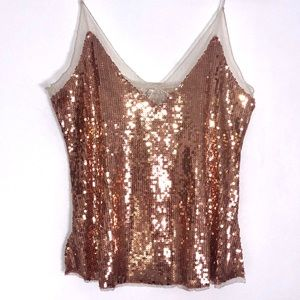 Free People Sequins Cami Party Summer Striped Top